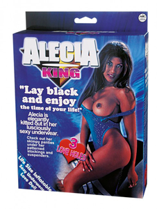 Muñeca hinchable negra ALECIA